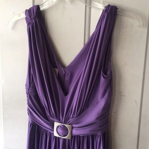 Dress  lt.purple  gathered buckle in front